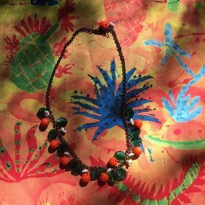 Jewelry - Orange Fruit Salad Retro Glass Necklace